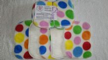 Bamboo & Fleece Wipes Pack 10 Beautiful White Spot Design